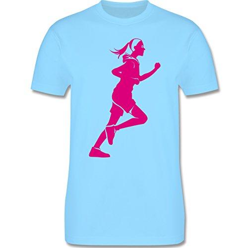 Laufsport - Läuferin - Herren Premium T-Shirt Hellblau