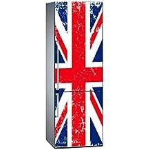 Vinilo para Frigorífico Bandera Reino Unido 185 x 70 cm   Adhesivo Resistente y de Fácil Aplicación   Pegatina Adhesiva Decorativa de Diseño Elegante