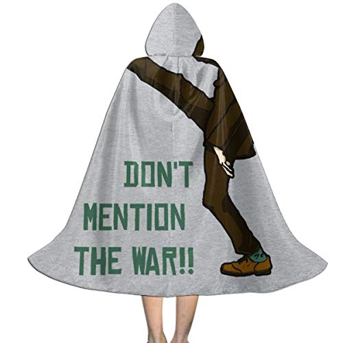 Haben Don't Ein Kostüm - NUJSHF Fawlty Towers Dont Mention The War Unisex Kapuzenumhang Umhang Cape Halloween Weihnachten Party Dekoration Rolle Cosplay Kostüme