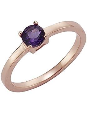 ZEEme Jewelry Damen Ring 925/- Sterling Silber Glänzend Amethyst rot 273271053RV-4