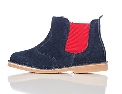 RED WAGON Bottines à Elastique Contrastant Fille Bleu (Navy)