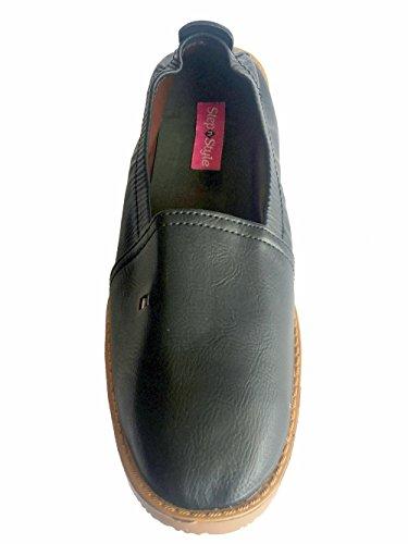 Étape N Style Hommes Noir Femme Khussa Chaussures panjabi jutti mojari ethnique fait main Lahore Chaussures Noir - noir