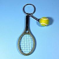 ZengBuks Moda Mini Raqueta de Tenis Colgante Llavero Llavero Llavero Buscador de Anillos Accesorios Holer para Regalos del Día del Amante - Verde