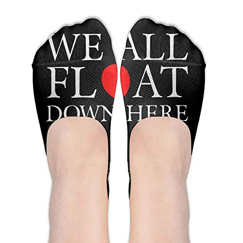 HVCMNVB We All Float Down Here Womens Cotton Casual Liner Socks Non Slip Flat Boat Ankle Socks -