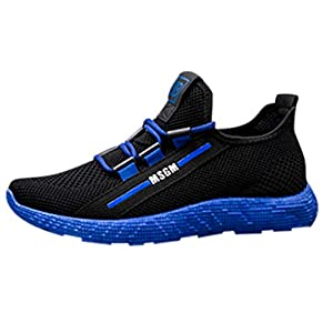 EUZeo Herren Fliegen stricken Atmungsaktiv Mesh Laufschuhe Casual Fitnessschuhe Turnschuhe Teenagers Straßenlaufschuhe Sportschuhe Fitness Gym Leichtes Bequem Schuhe