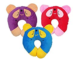 Aarushi Just Born Baby Pillows Round Shape for Infant Soft Sleep Pillows Pack of 3