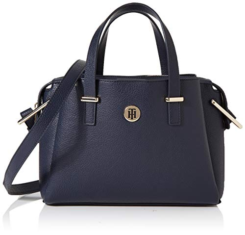 Tommy Hilfiger Damen Th Core Med Satchel Business Tasche, Blau (Tommy Navy), 1x1x1 cm (Hilfiger Handtasche Tommy Damen)