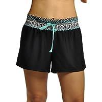 OUO Badeshorts Damen UV Schutz Schwimmen Bikinihose Wassersport Schwimmshorts Boardshorts