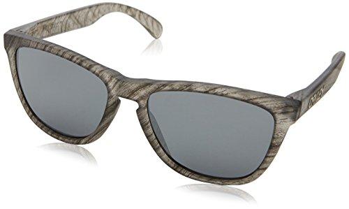 Oakley Herren Frogskins Sonnenbrille, Transparent (Matte Clear Woodgrain), 55