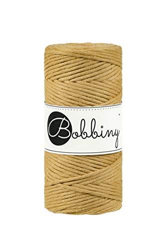 Bobbiny Macrame Cords 3 mm - 100 m Wahl (Mustard) Mustard Cord