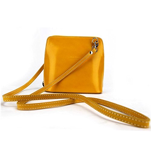 Vera Pelle, Borsa a tracolla donna Green small Yellow