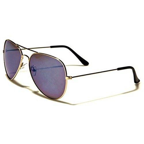Air Force Aviator Sonnenbrillen - Pilotenbrille - Radfahren - UV400 - (Mit Brillenetui / Vault)