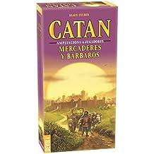 DEVIR Catan Mercaderes y Bárbaros, Juego con ampliación para 5 y 6 jugadores