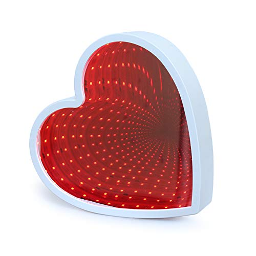 41yQfoc2gbL Heart Shaped Infinity Mirror (Optical Illusion)