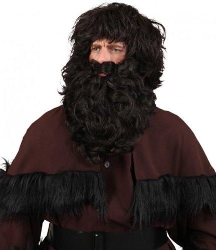 Orlob-Knecht-Ruprecht Bart-und Perückenset, schwarz