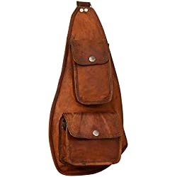 "Gusti Cuir nature ""Ness"" sac à dos en cuir sac bandouliére en cuir sac en cuir naturel et véritable besace cabas en cuir sac de voyage bagage à main en cuir vintage marron G11"