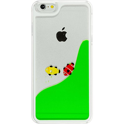 PhoneNatic Case für Apple iPhone 6 Plus / 6s Plus Hülle grün Fish Tank Hard-case für iPhone 6 Plus / 6s Plus + 2 Schutzfolien Grün