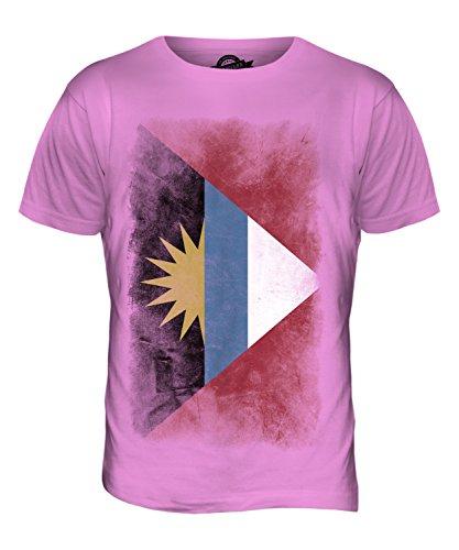CandyMix Antigua Und Barbuda Verblichen Flagge Herren T Shirt Rosa