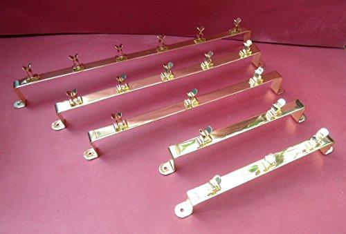 Preisvergleich Produktbild 1-2X, für 4breite Weinglas Halter. Metall. Chrom Nickel. Wohnmobil/Wohnwagen/Caravan/Wohnmobil/statisch. 365mm lang