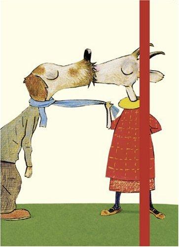 Einschreibbuch Ziege: Motiv aus Wolf Erlbruchs Kinderzimmerkalender Küssen