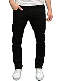 Mens Skinny Jeans, Black, W38/L32 (Manufacturer Size:38 R) Enzo Jeans
