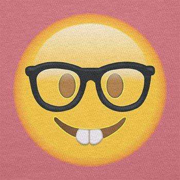Texlab–Nerd Emoji–sacchetto di stoffa Pink