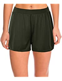 1fb4726896 Septangle Women's Swim Shorts Solid Color Boyshorts Beach Bottoms Swimming  Trunks