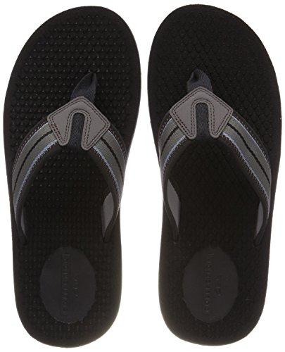 Clarks levick post, sandali a punta aperta uomo, nero (black combi), 41 eu