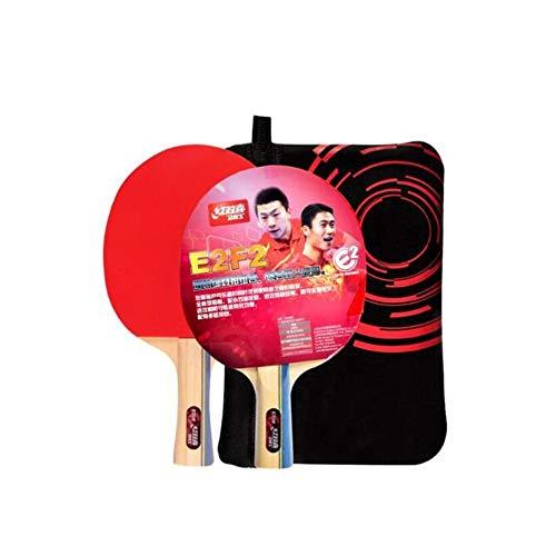 CHUJIAN Tischtennisschlägerset, doppelseitig, Antihaftbeschichtung, Stifthalter/horizontale Aufnahme pro Stück, Fitness-Kombinationsart (mit Set) (Edition : Game)