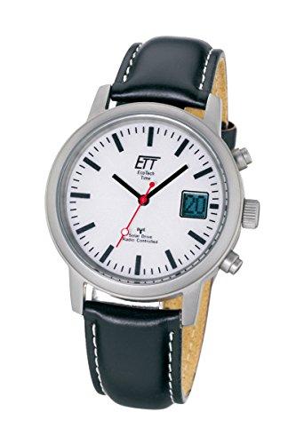 ETT Eco Tech Time Funk Solar Herren Uhr Chronograph mit Leder Armband EGS-11185-11L