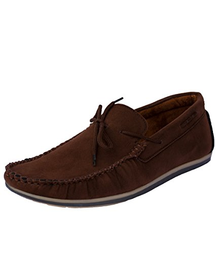 Magnolia Men's Brown Synthetic Loafers - 8 UK