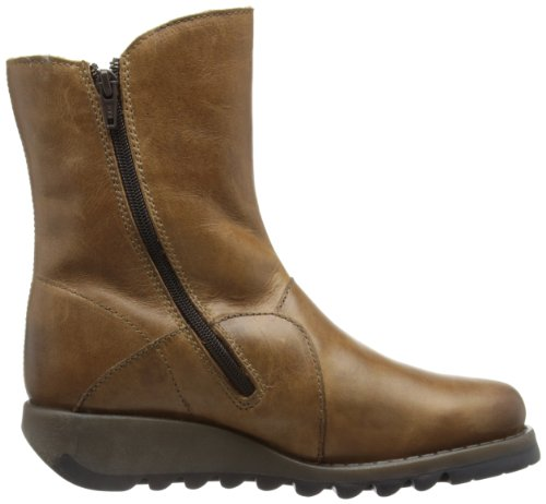 FLY London Seti Warm, Bottes Chelsea femme Marron (Camel)