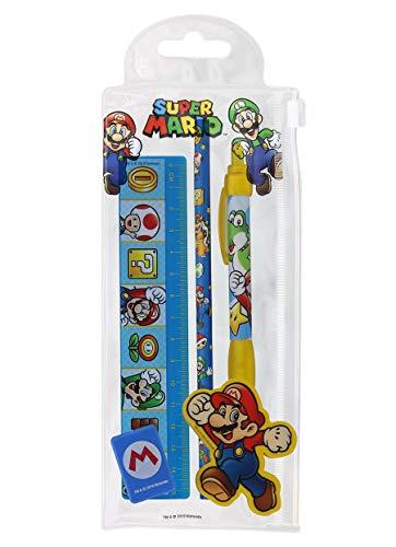 Unbekannt Super Mario Schreibwaren-Set Characters (Bleistifte Mario Super)