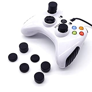 Maveek Thumb Grip Caps Controller Cover for PS4, PS3, Xbox 360, Xbox One, Wii U Tablet Controller, Playstation 4 Tall Grips (8 Pieces Black)