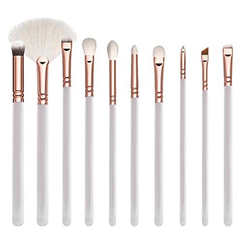 Maquillage Pinceaux, Sansee 15 Pcs Pinceau De Maquillage En Or Rose Ensemble D'Outils De Maquillage Complet Poudre De MéLange De Poudre (15 Pièces En Or Rose)