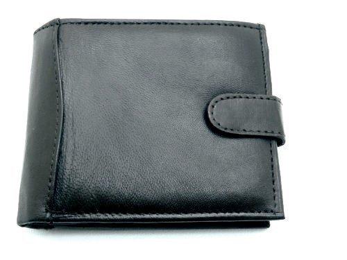 RAS® Herren-Luxus-Luxus-Leder-Geldbörse Mit Mehreren Kreditkarten-Taschen, ID-Fenster Und Münztasche #340 (Schwarz) (Id-fenster-schwarz-herren-geldbörsen)