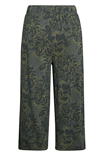 next Donna Gonna-pantalone in jersey con stampa piume Cachi floreale