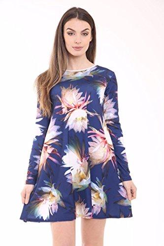 Trends Fashions Damen Tunika Kleid * Gr. 48, FAIRY FLORAL NAVY