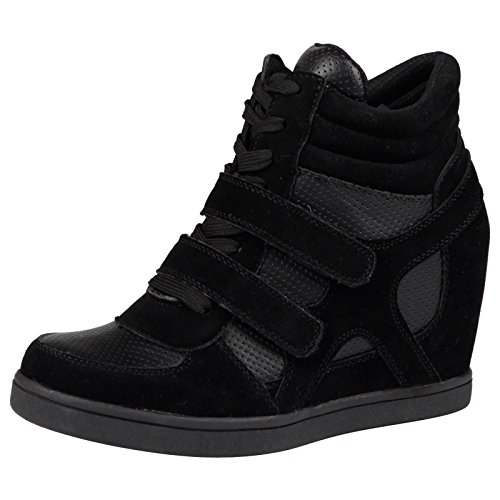 bypublicdemand-thea-womens-hidden-wedge-trainers-black-size-6-uk-39-eu