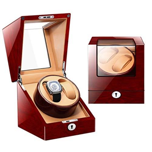 Yeer Uhrenbeweger 2 Uhren Wolf, Mechanische Tische Automatikaufzug Rundungsboxen Aufbewahrung Automatik Uhrenbeweger Etui (Color : D)