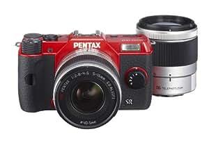 Pentax Q10 Systemkamera (12 Megapixel CMOS Sensor, 7,6 cm (3 Zoll) Display, Full HD, HDMI) inkl. 5-15 und 15-45mm Objektiv Kit rot