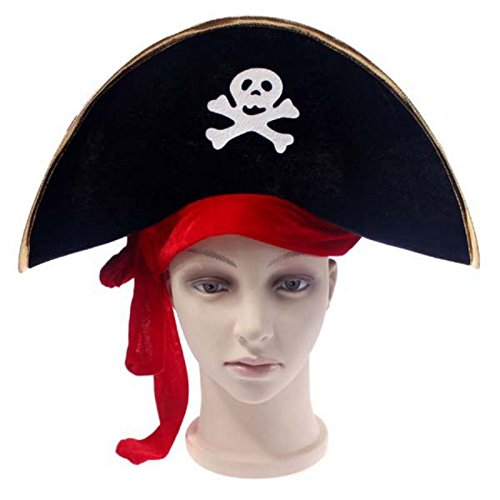 Party Hats - 2019 Halloween Skull Hat Caribbean Pirate Piracy Corsair Cap Party Funny Gift - Kids Gangster Adults Elmo Sunglasses Solid Rock Toddler Multi Hats Tricorn Patrol Bulk ()