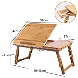 xy Klapptisch- Laptop-Schreibtisch, Bett-Schreibtisch-Zuhause-beweglicher Faltender Fauler Tabellen-Studentenwohnheim Einfacher Kleiner Tabelle-Bambus (größe : B)