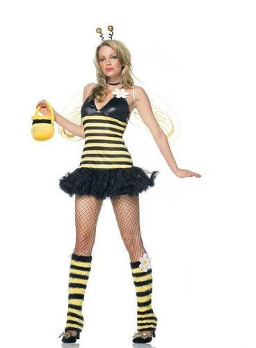 Leg Avenue Bienen Kostüm 4-teilig, 1 Stück, Gr. (Bienen Flügel Erwachsenen)