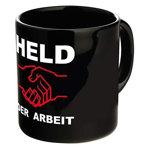 Ostprodukte-Versand.de Tasse Held der Arbeit schwarz | Ossi Artikel | für Ostalgiker | DDR Produkte