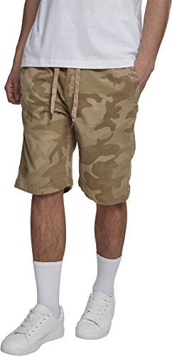 Urban Classics Herren Shorts Camo Joggshorts, Mehrfarbig (Sand Camo 00867), 52 (Herstellergröße: L) (Camo Short)