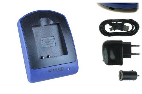 Ladegerät (USB, KFZ, Netz) S005 für Panasonic Lumix DMC-FS, FX, LX Serie / Leica D-LUX / Finepix / Ricoh... s. Liste - Dmc-fx-serie