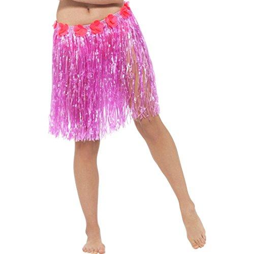 Falda-caribea-Faldita-hawaiana-rosa-Minifalda-playa-Outfit-hula-Complemento-disfraz-hawaii-Complemento-fiesta-verano