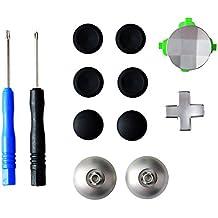 Gam3Gear 11 en 1 Reemplazo analógico de aleación de metal Thumbstick D-Pad Conjunto de botones direccionales para XBOX One Elite Controller con herramienta abierta