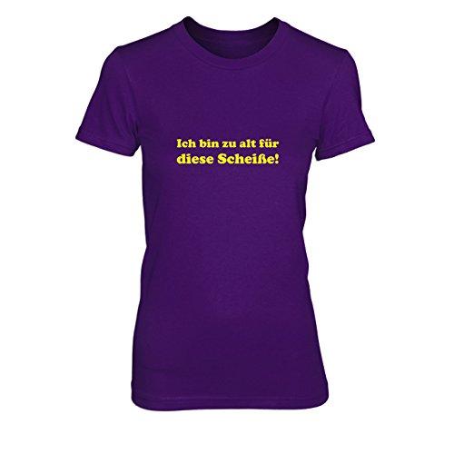 Ich bin zu alt für diese Scheiße! - Damen T-Shirt, Größe: XL, Farbe: (Kostüm John Mcclane Stirb Langsam)
